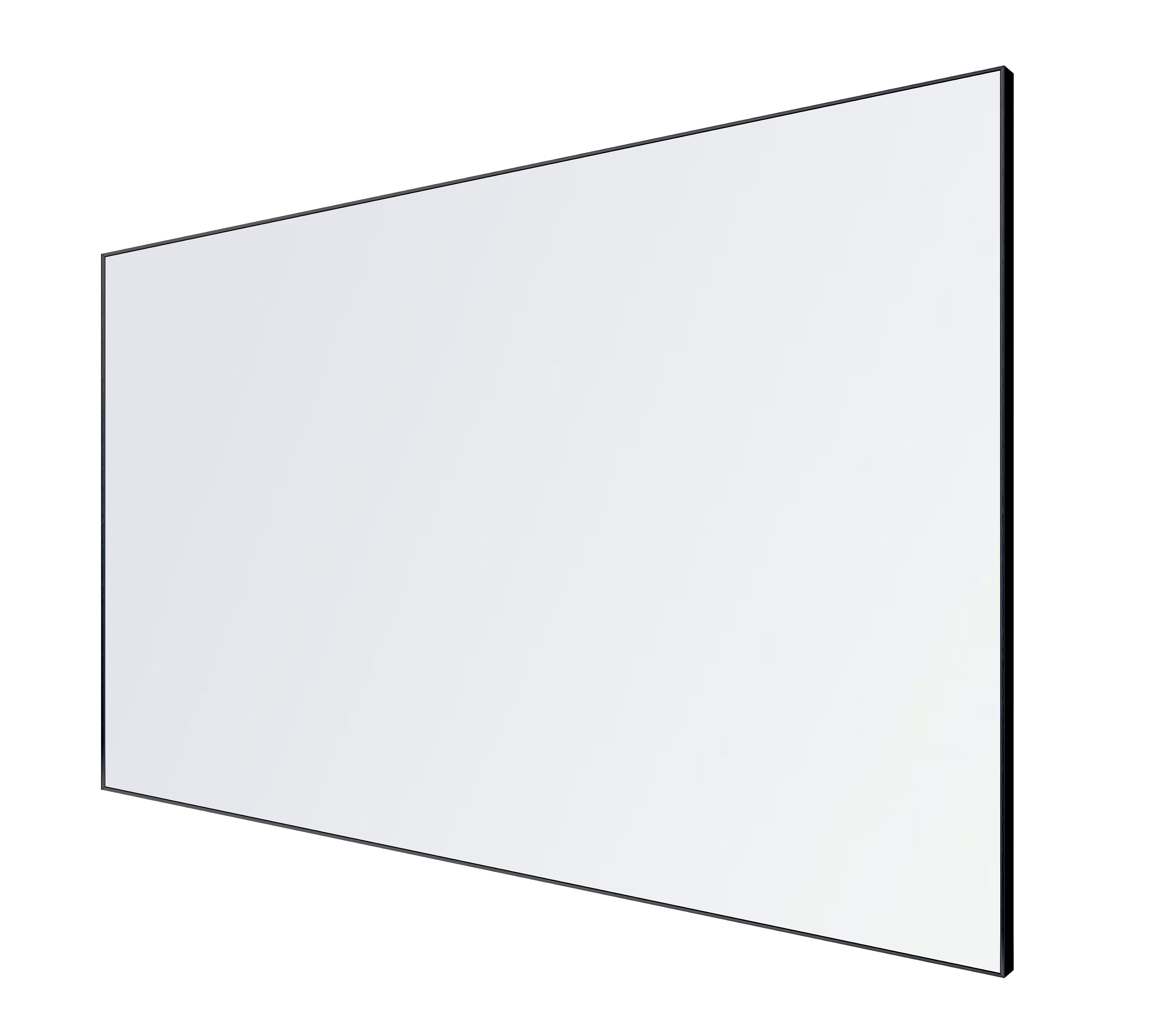 Porcelain Whiteboard LX Edge Frame Powder Coated BLACK