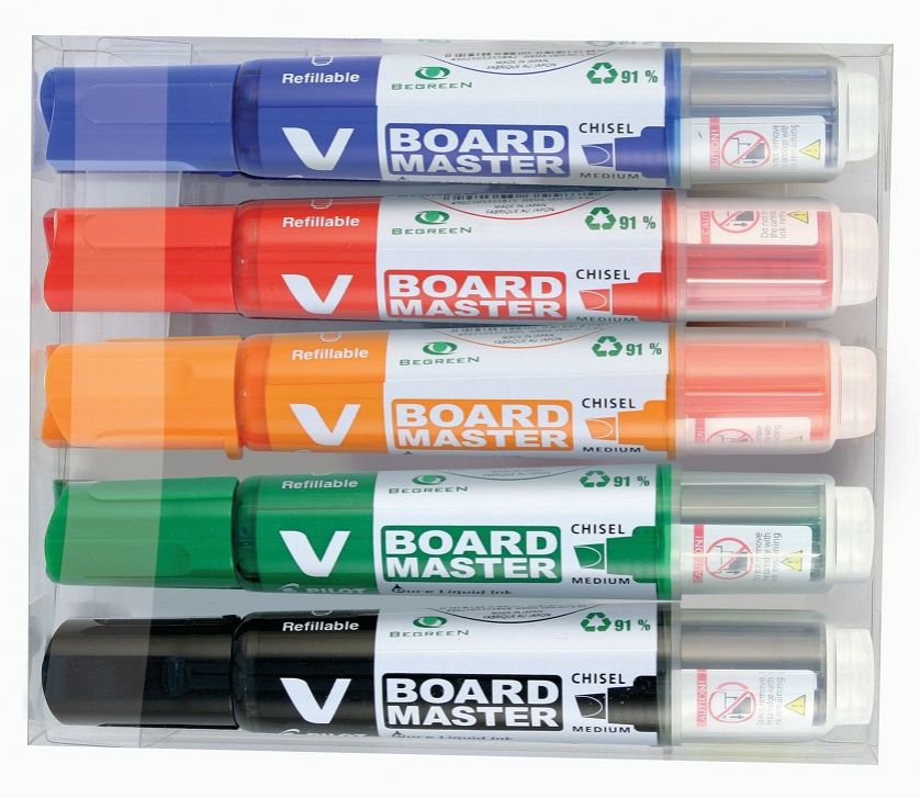Pilot Markers (Pack of 5) Refillable