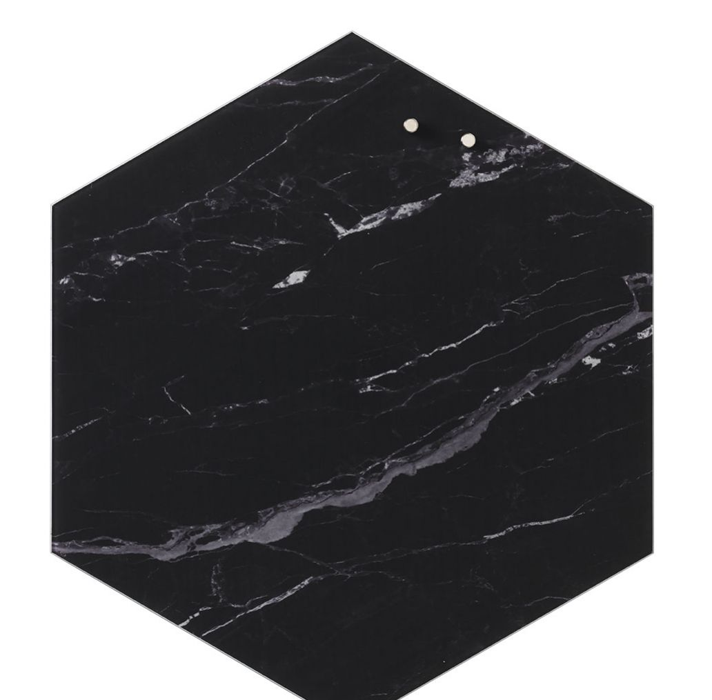 Naga Hexagon Glass Black Marble