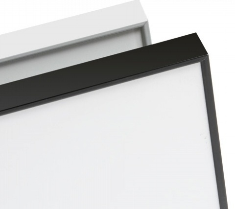 Porcelain Projection Whiteboard LX Edge Frame *Powdercoated*