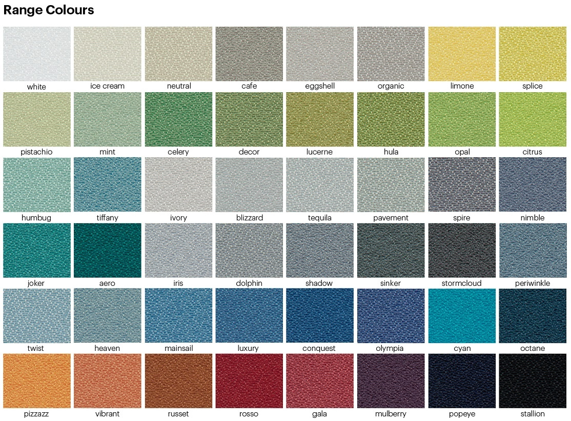 Suzette Colour Chart