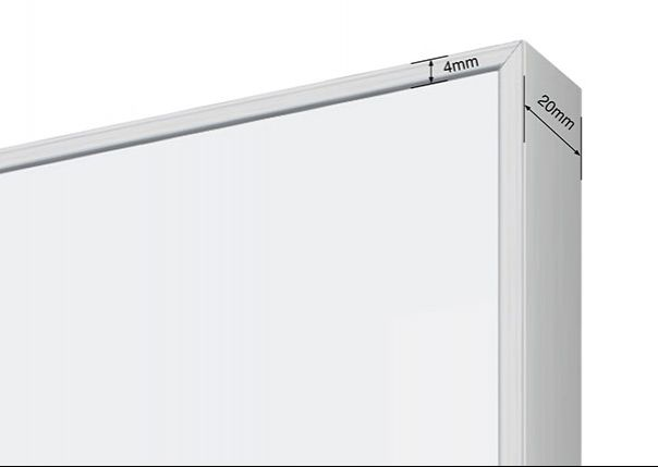 Commercial Whiteboard LX6000 Edge Frame *Satin Silver*