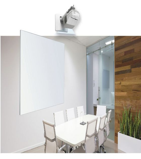 Low glare Matte Surface Projection Whiteboards