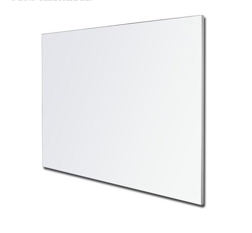 Porcelain Whitboard LX Edge Frame Powder Coated in White