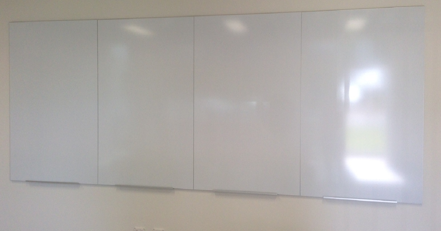Commerical Whitboard LX Edge Frame *Butt-joined* to make Whiteboard Wall