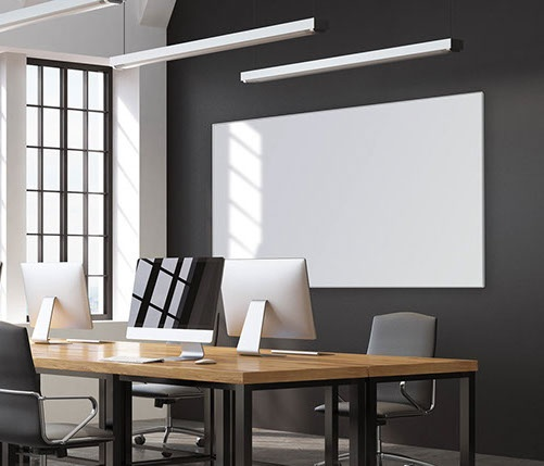 Porcelain Whiteboard LX Edge Frame