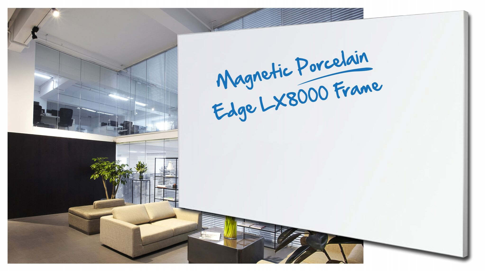LX8000 Frame Whiteboard Powder Coated White