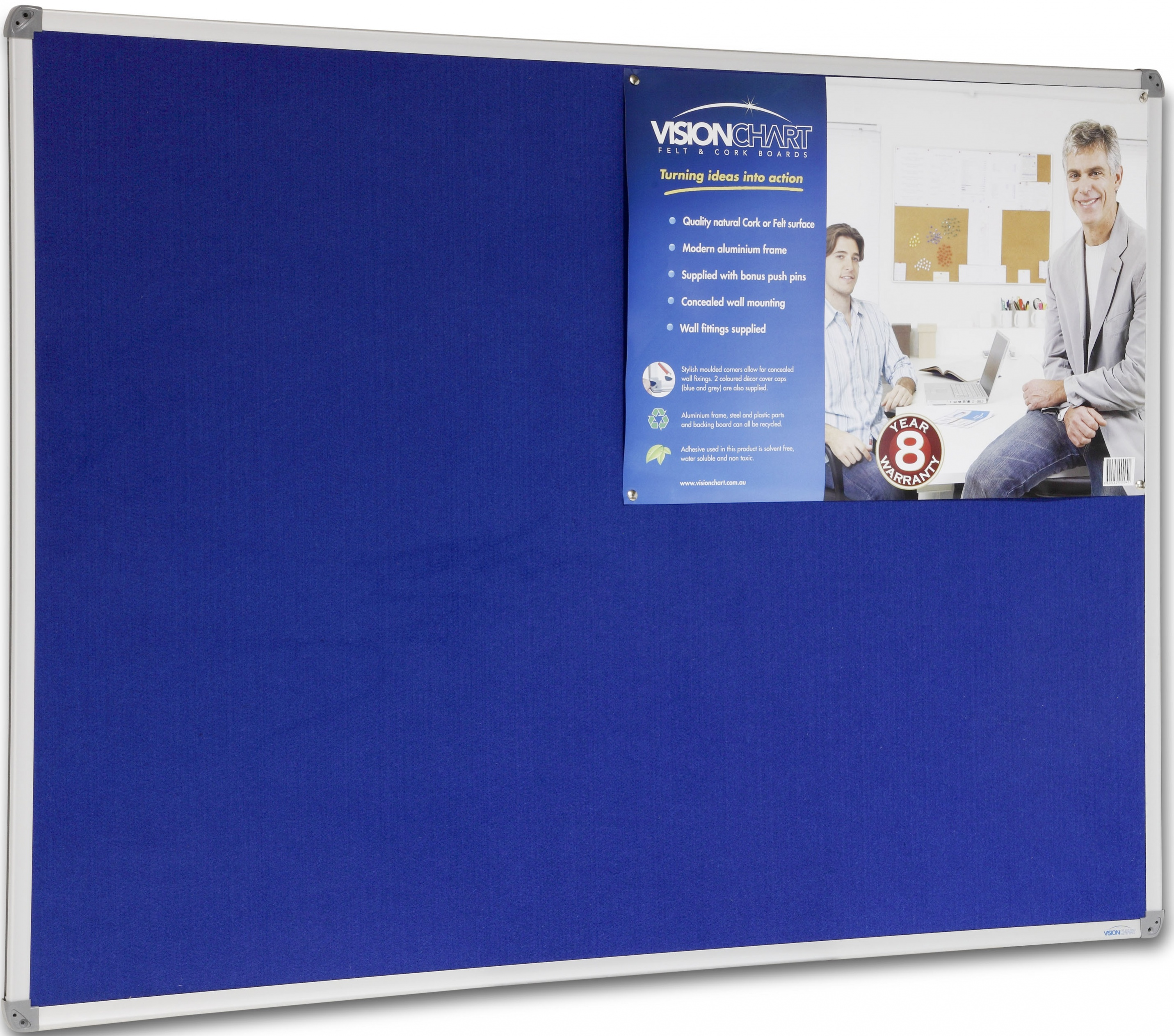 Felt Board Standard Frame (Colour: Royal Blue 346)