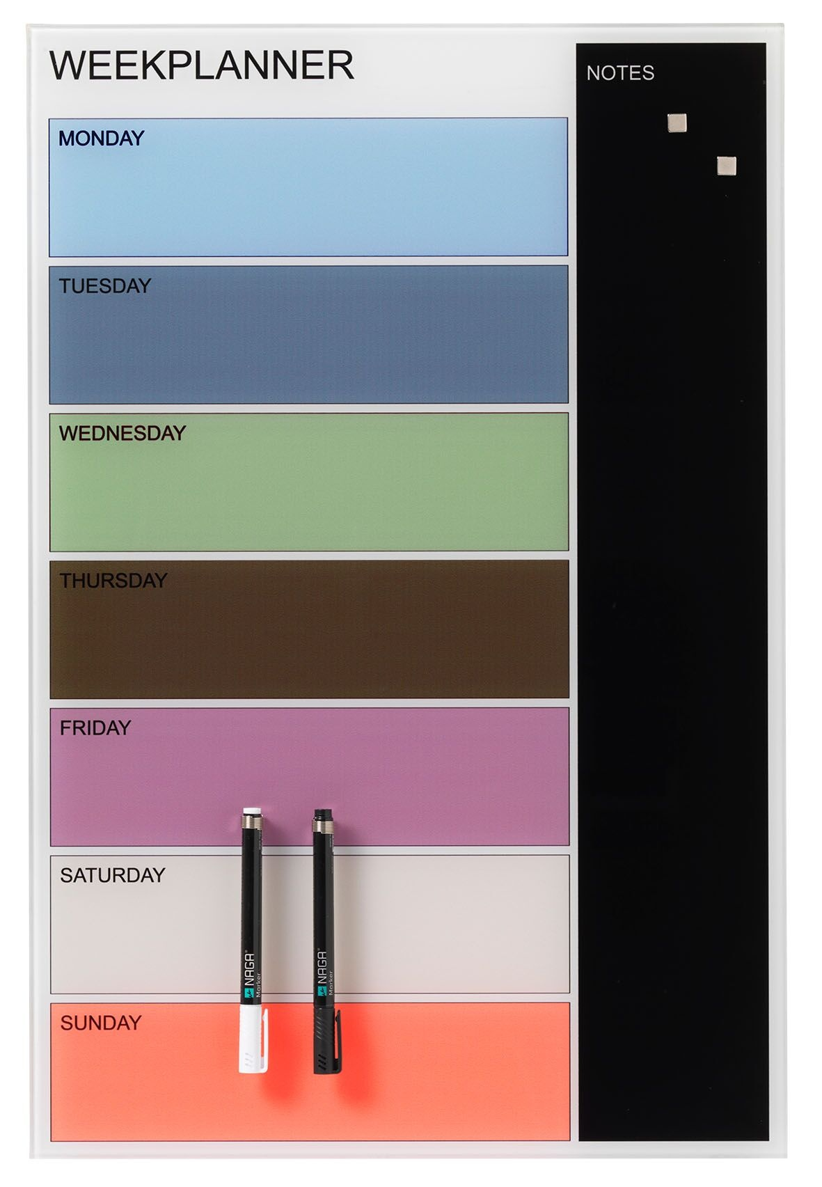 NAGA Coloured Magnetic Weekly Planner - 400 x 600