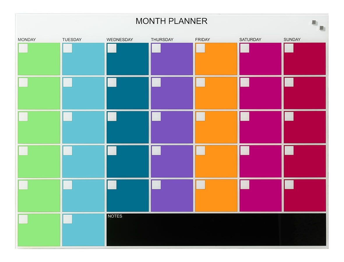 NAGA Magnetic Monthly Planner - 800 x 600