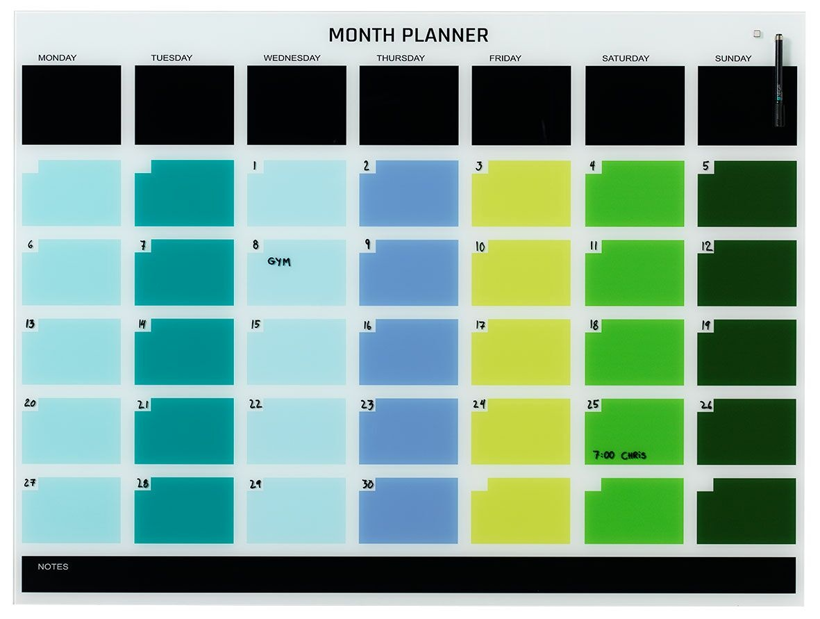 NAGA Magnetic Monthly Planner - 1200 x 900