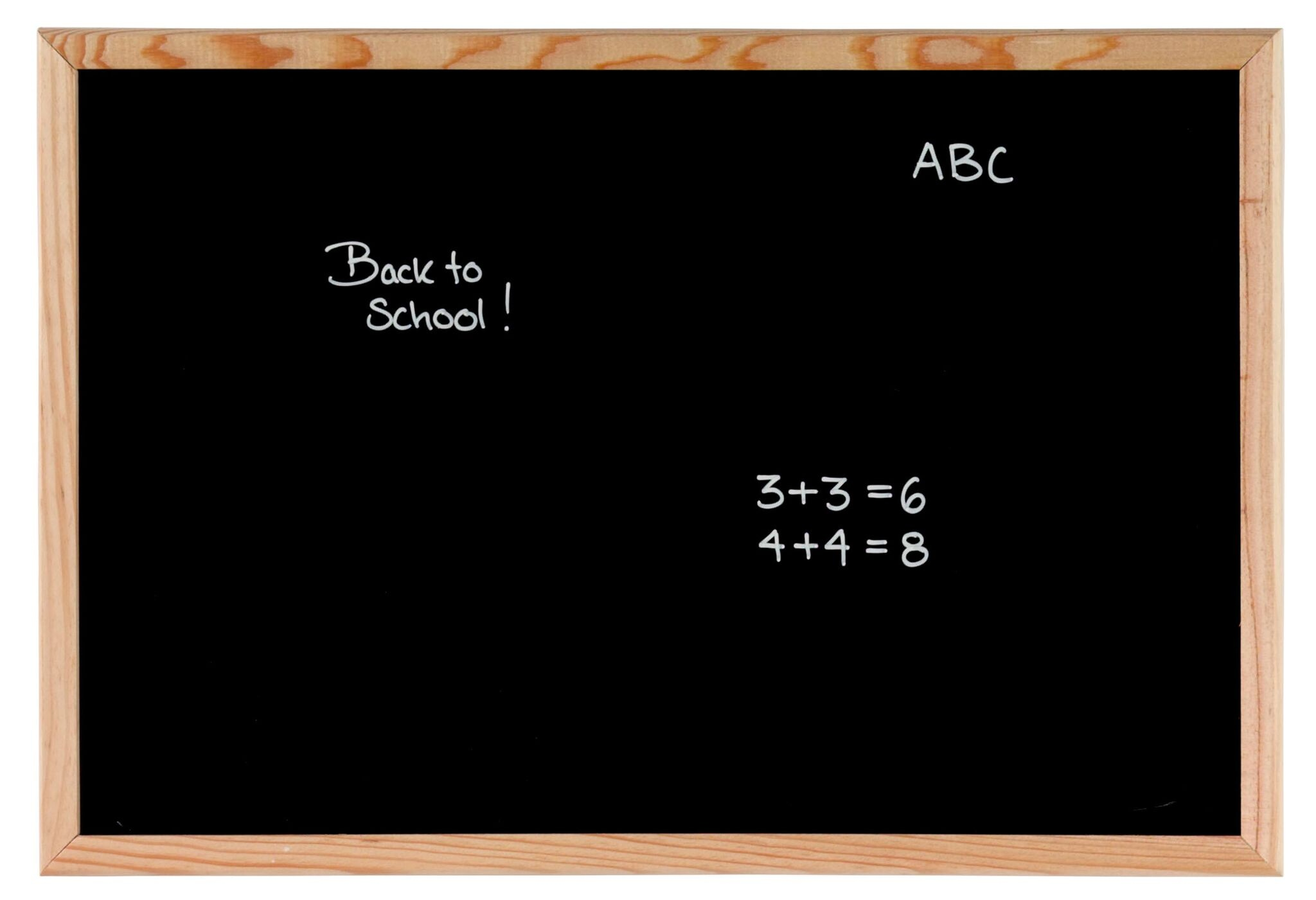 NAGA Blackboard with Pine Frame - 800 x 600