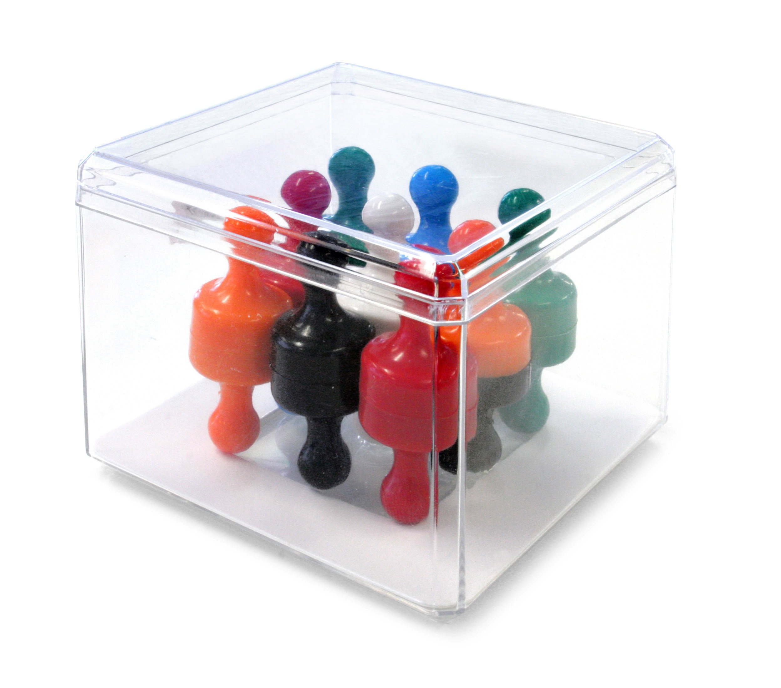 Super Strong 'Skittle Magnets' (6 Colours - 3 of each - Total of 18 Magnets)