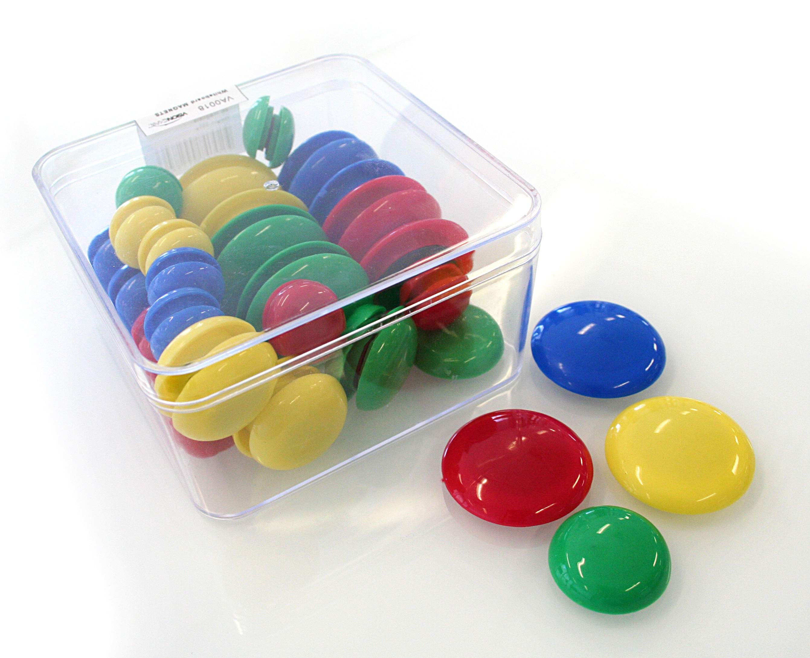 Whiteboard Magnets (3 Sizes and 4 Colours in each - total of 48 Magnets)