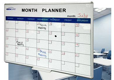 Monthly Planner Whiteboard